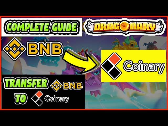 DRAGONARY TRANSFER BNB TO COINARY TOKENS – HOW TO BUY COI… #bnb #binancecoin