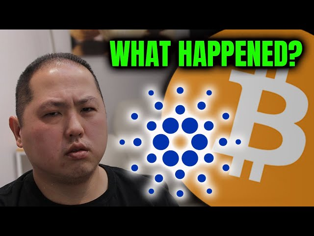 WHAT HAPPENED TO CARDANO & BITCOIN?? IMPORTANT LESSON FOR NOOBS!!