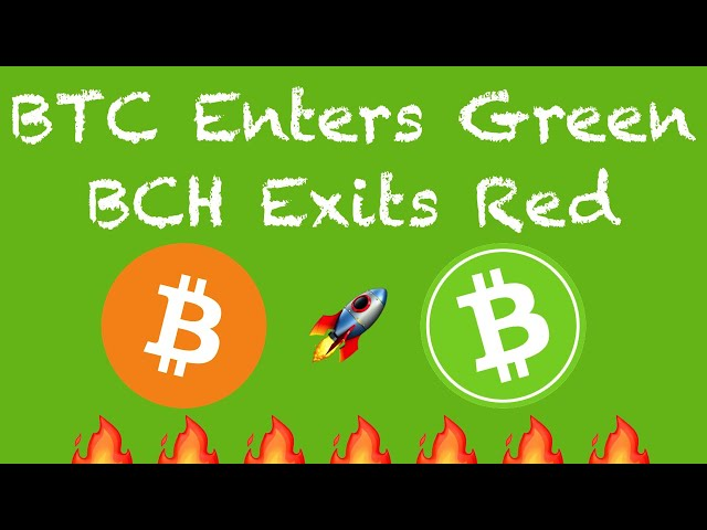 BCH out of the RED ZONE! A little Bitcoin History