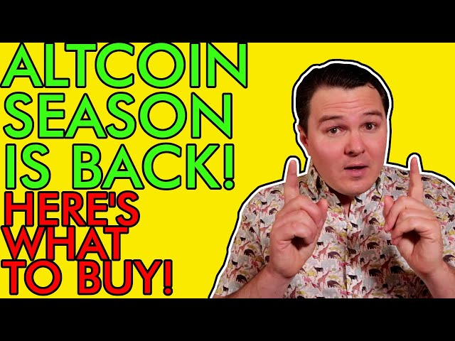 #crypto #beginner ALTCOIN SEASON IS BACK!!! HERE'S THE BEST CRYPTO TO BUY RIGHT NOW! [Big Gains Coming]