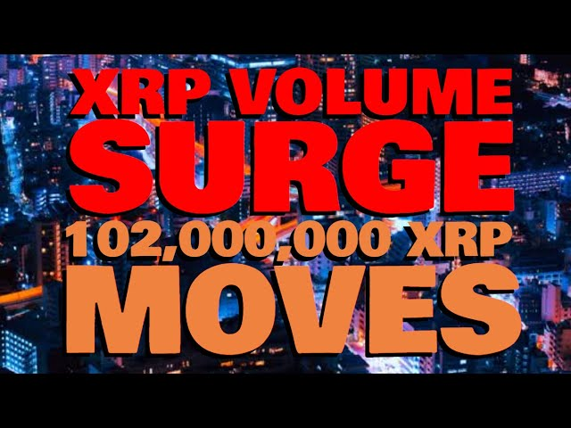 XRP Volume TRIPLES IN A DAY, Setting Up For SOMETHING BIG | 102 MILLION XRP MOVES