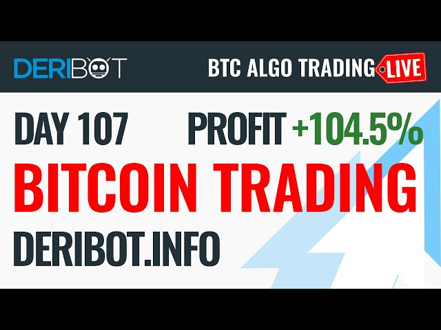 #Bitcoin #BTC Live Bitcoin Trading With DeriBot on Deribit Exchange