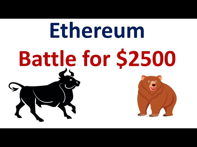 Battle for $2500 Continues #Ethereum #ETH