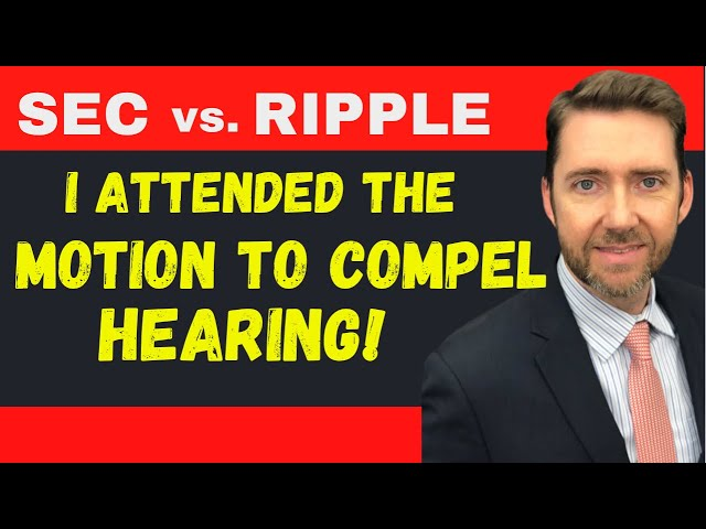 Att'y Jeremy Hogan Discusses the Hearing in the SEC v. Ripple / XRP Case and TWO KEY TAKEAWAYS!