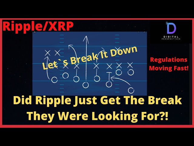 #Ripple #XRP Ripple/XRP-Ripple Just May Have Gotten The Break They Are Looking For